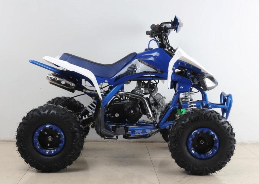 quad de gasolina para niños azul