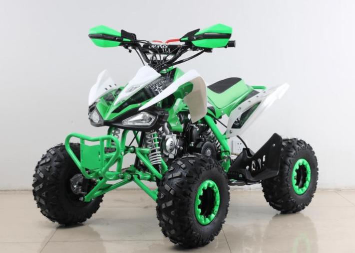 quad para niños a gasolina verde