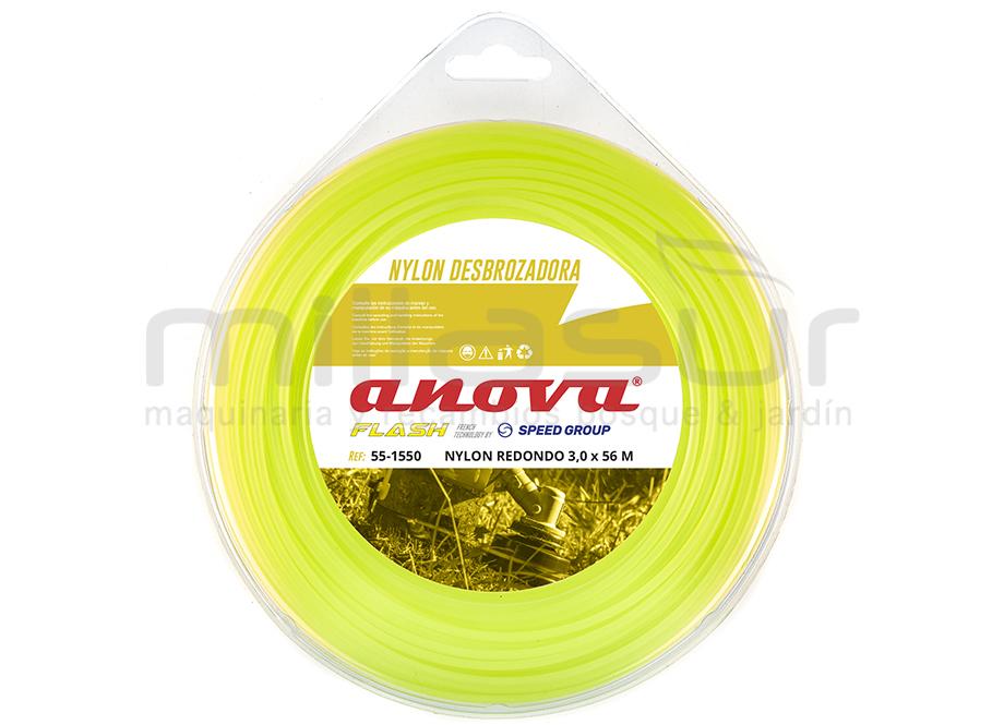 NYLON REDONDO ANOVA FLASH BLÍSTER 3mm x 56m