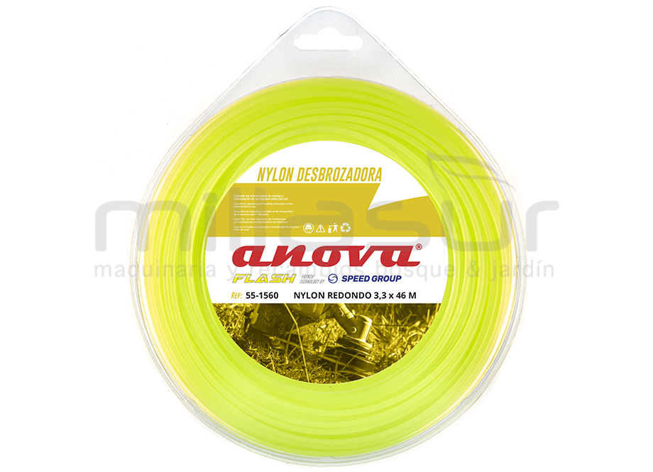 NYLON REDONDO ANOVA FLASH BLÍSTER 3.3mm x 46m