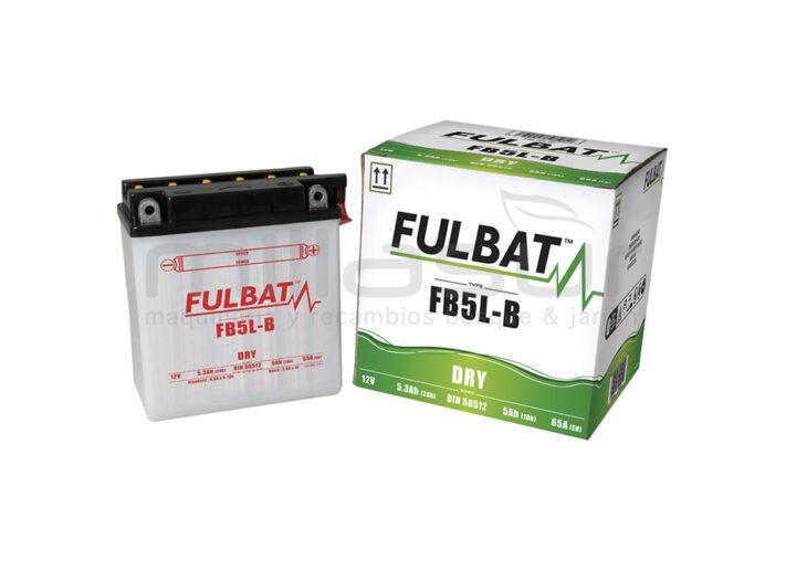 BATERIA MOTO FB5L-B ACIDO 5.3Ah (120 X 60 X 130) +DER