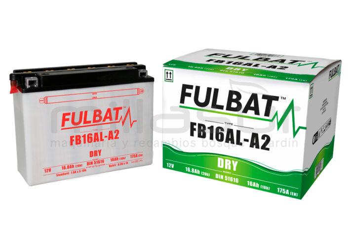 BATERIA MOTO FB16AL-A2 12V ACIDO 16Ah (207 x 71 x 164) +DER.