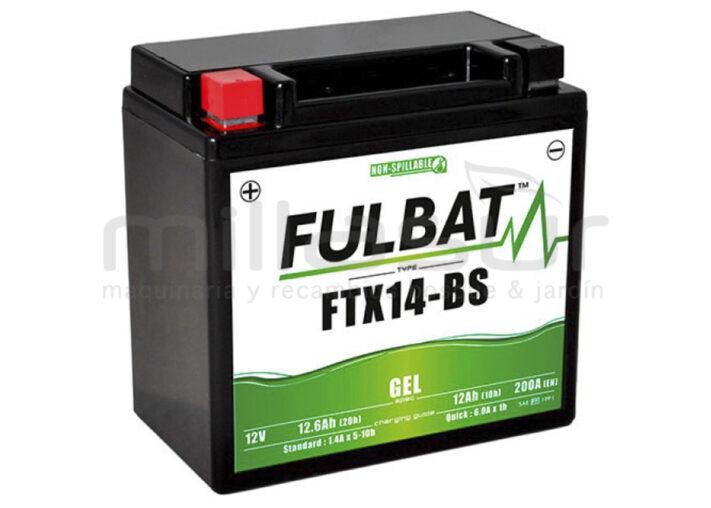 BATERIA MOTO FTX14-BS 12V LIBRE MANTENIMIENTO 12.6Ah (150 x 87 x 145) -DER.