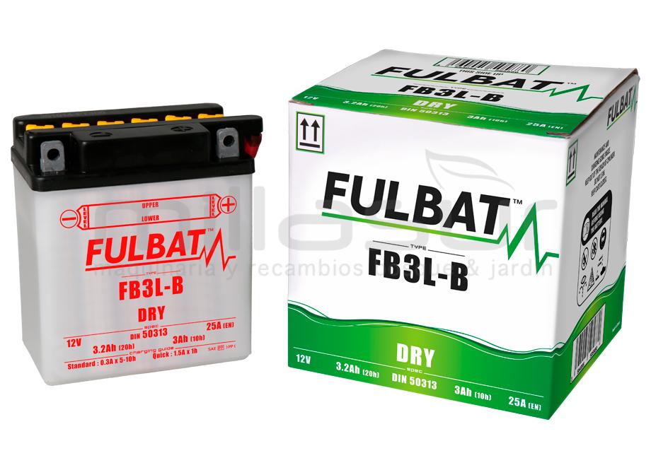BATERIA MOTO FB3L-B 12V ACIDO 3 Ah (98 x 56 x 110) +DER.