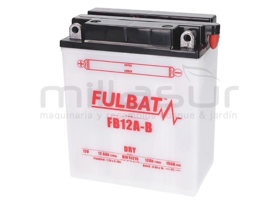 BATERIA MOTO FB12A-B ACIDO 12Ah (134 X 80 X 160) -DER (RESP. DRCH)