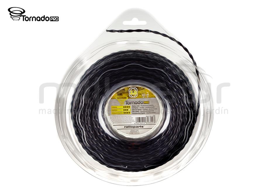 NYLON TRENZADO TORNADO PRO DISPENSER 3mm x 43m