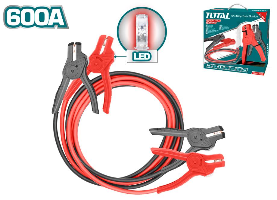 PINZAS BATERIA 600AMP CON INDICADOR LED - 3M - TOTAL
