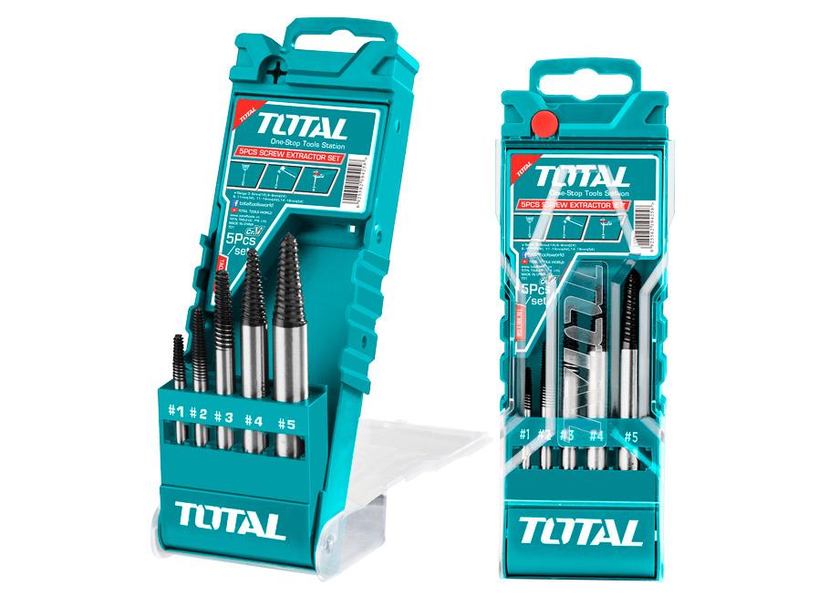 SET 5 EXTRACTORES DE TORNILLOS CR-V (3-6, 6-8, 8-11, 11-14, 14-18mm))