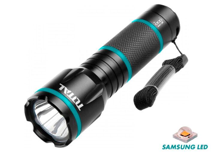 LINTERNA LED ALUMINIO 200 LUMENS TOTAL (32x126.5mm - 3AAA NO INCLUIDAS)