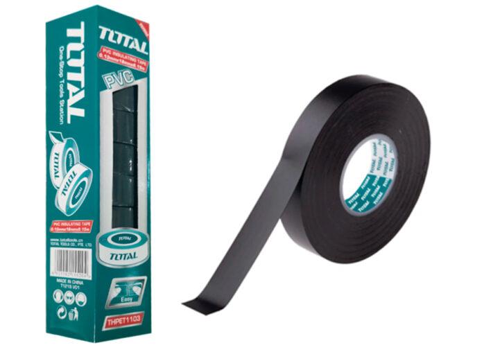 PAQUETE 10 UNIDADES CINTA AISLANTE NEGRA 18mm PVC TOTAL (9.15 M)