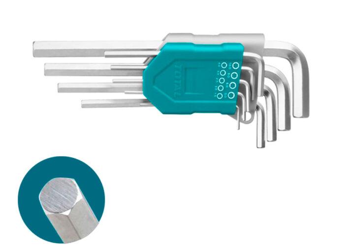 JUEGO LLAVES TOTAL ALLEN HEXAGONALES CR-V - 9 PCS (1.5 - 10 mm)