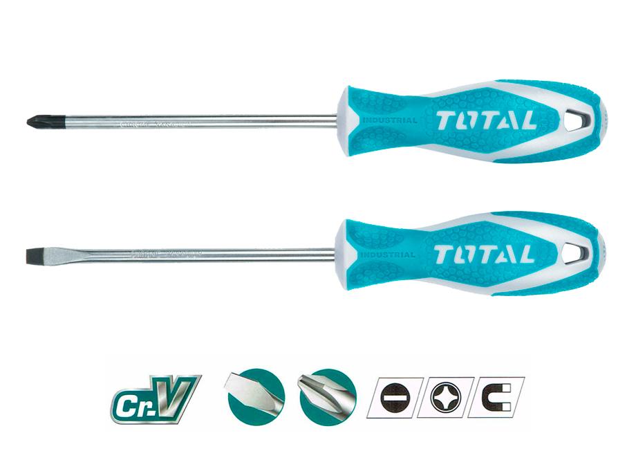 SET 2 DESTORNILLADORES Cr-V TOTAL (SL6 5x6x125 - PH2 6x125)